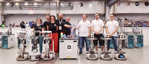 Nos vices champions du monde de robotique, Vincent, Thomas et Valentin